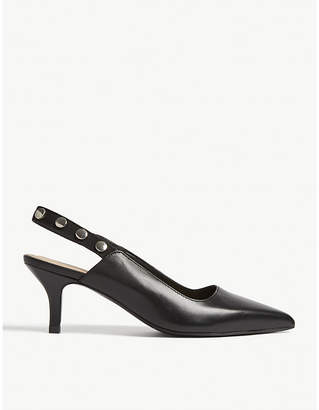 Claudie Pierlot Altesse leather slingback courts