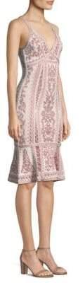 Herve Leger Jacquard Flutter Dress