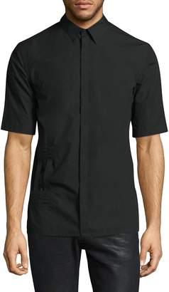 Helmut Lang Men's Double Bar Tab Cotton Button-Down Shirt
