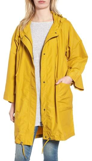 Hooded Organic Cotton & Nylon Jacket