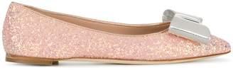 Giuseppe Zanotti Design glitter bow ballerina pumps