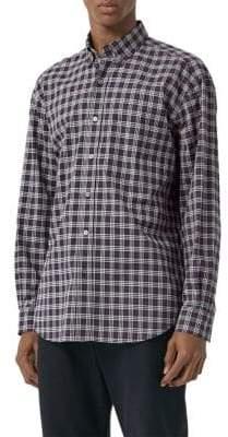 Burberry Jameson Check Cotton Woven Shirt