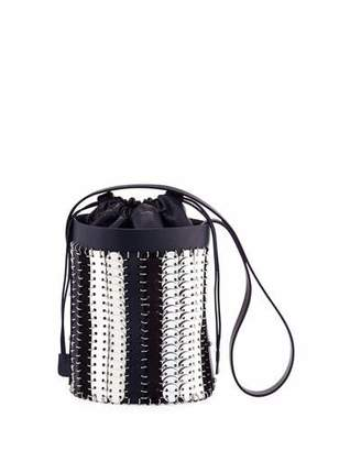 Paco Rabanne 1401 Chain-Link Mini Bucket Bag, Blue