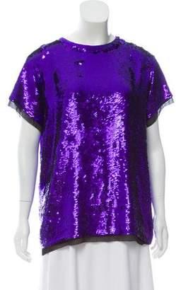 Proenza Schouler Embellished Silk Top