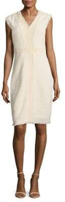 Rebecca Taylor Textured Frayed Dress