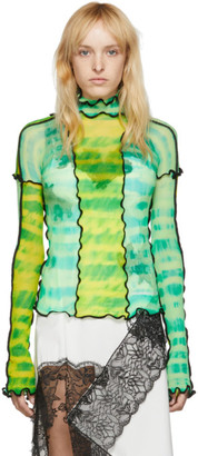 ASAI SSENSE Exclusive Green and Yellow Hot Wok Turtleneck