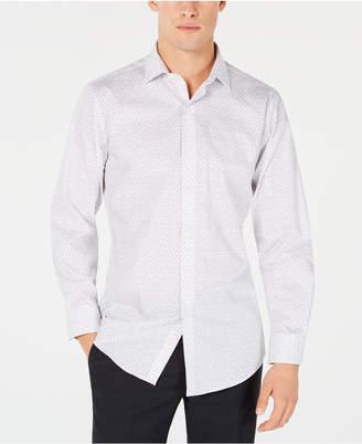 Bar III Men's Slim-Fit Stretch Scattered Dot-Print Dress Shirt
