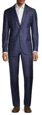 Lubiam Windowpane Wool Suit