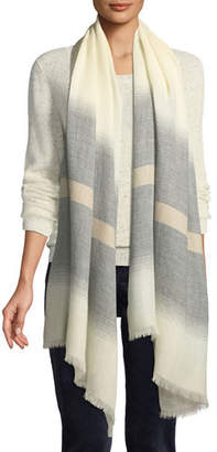 Eileen Fisher Herringbone Stripe Alpaca Scarf