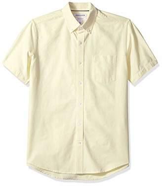 Amazon Essentials Men's Regular-Fit Short-Sleeve Solid Pocket Oxford Shirt