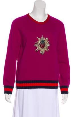 Gucci 2016 Strawberry Embroidered Sweater w/ Tags