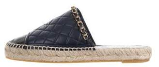 Chanel Chain-Link Espadrille Mules Navy Chain-Link Espadrille Mules