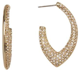 Jenny Packham Pave Crystal 31mm Open Hoop Earrings
