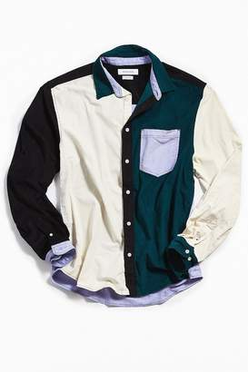 Urban Outfitters Long Sleeve Colorblocked Corduroy Button-Down Shirt