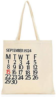 Saks Fifth Avenue Women's Five-Day Calendar Canvas Tote Bag
