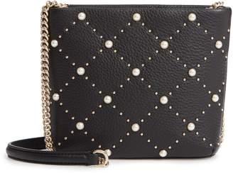 Kate Spade Hayes Street - Ellery Imitation Pearl Studded Leather Crossbody Bag