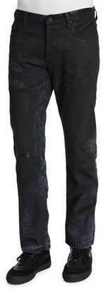 PRPS Resin-Coated Distressed Denim Jeans, Black $350 thestylecure.com