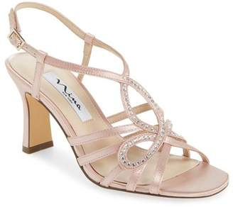 Nina Amabel Crystal Embellished Sandal (Women)
