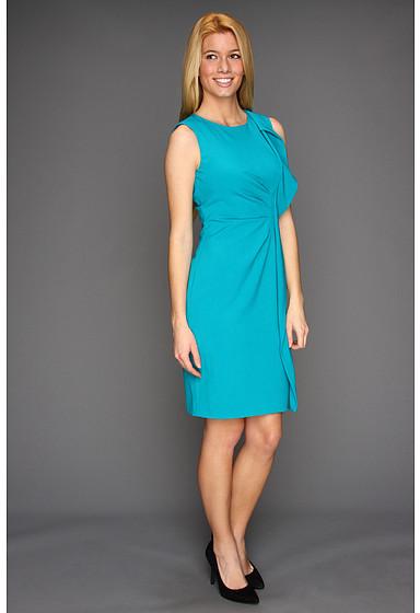 Calvin Klein Sheath Dress With Cascading Ruffle Detail