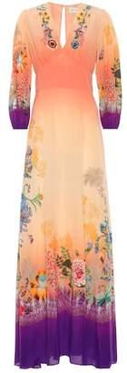 Etro Printed silk crêpe maxi dress