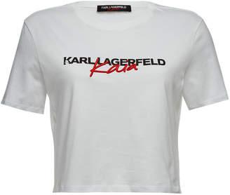 Gerber Karl X Kaia Karl x Kaia Embroidered Cotton T-Shirt