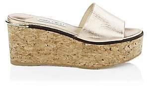 Jimmy Choo Women's DeeDee Leather Wedge Sandals