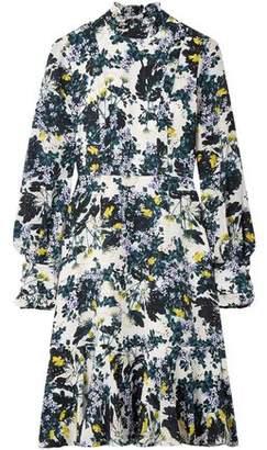 Erdem Bernette Button-Detailed Floral-Print Silk Crepe De Chine Dress