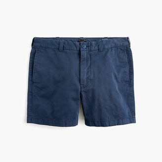 "J.Crew 5"" Short In Garment-Dyed Blue Cotton"