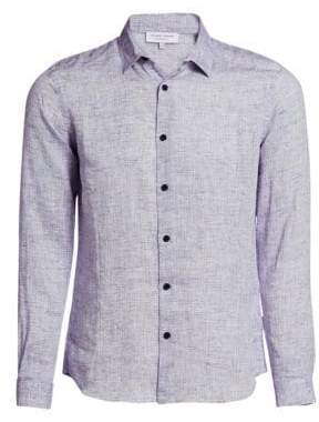 Orlebar Brown Linen Casual Button-Down Shirt
