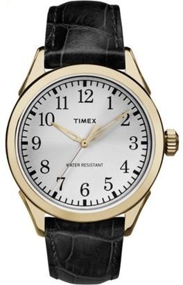 Timex Men's Briarwood Terrace 40mm |Black| Leather Dress Watch TW2P99600