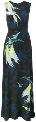 Erdem Bird printed evening dress