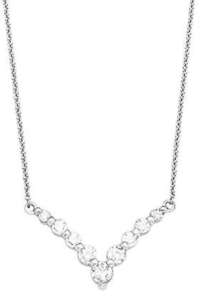 Amor Women's Chain with Pendant 925 Silver Rhodium-Plated Zirconia White 45 cm 9291854