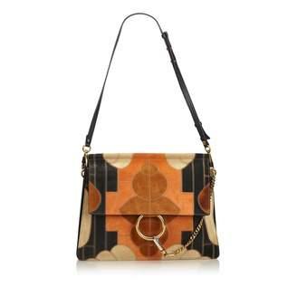Chloé Faye Orange Suede Handbag