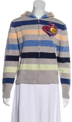 Marc Jacobs Striped Zip-Up Sweatshirt