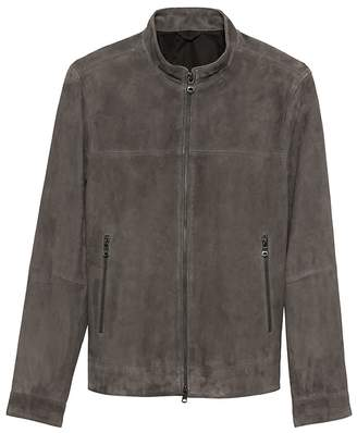 Banana Republic Slim Suede Moto Bomber Jacket