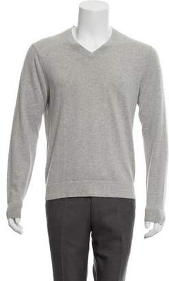 Theory Cashmere-Blend V-Neck Sweater