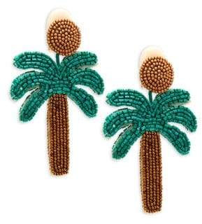 Kenneth Jay Lane Oversized Palm Tree Earrings