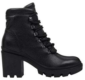Marc Fisher Kini Leather Combat Booties