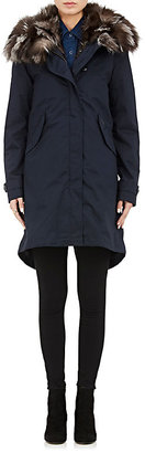 Woolrich John Rich & Bros. Women's Literary Patch Parka With Removable Lining-NAVY $1,395 thestylecure.com