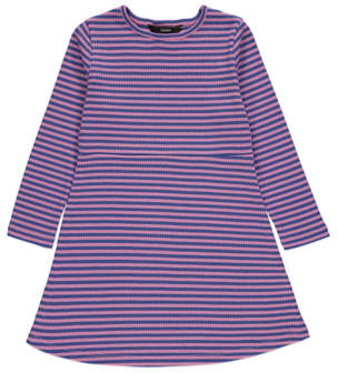 George Purple Ribbed Striped Dress