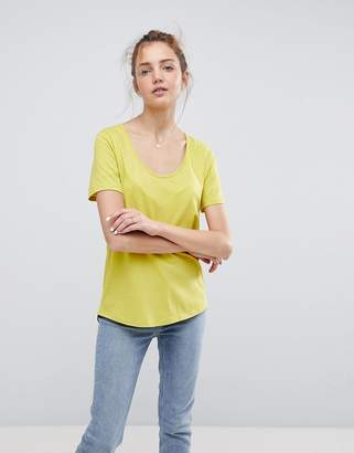 Asos DESIGN T-Shirt with Scoop Neck and Curved Hem