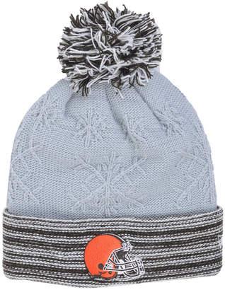 New Era Women's Cleveland Browns Snow Crown Redux Knit Hat