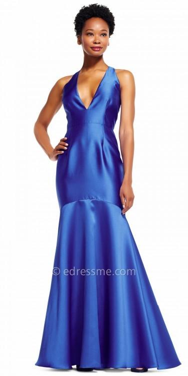 Adrianna PapellAdrianna Papell Shining Plunging V-neck Mermaid Evening Dress