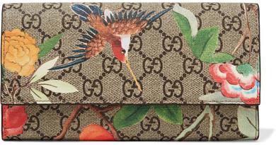 Gucci Gucci - Printed Coated-canvas Continental Wallet - Beige