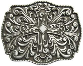 Celtic JEAN'S FRIEND New Vintage Western Flowers Iron Cross Knot Belt Buckle