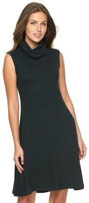 Women's Apt. 9® Ribbed Cowlneck Sweaterdress $50 thestylecure.com
