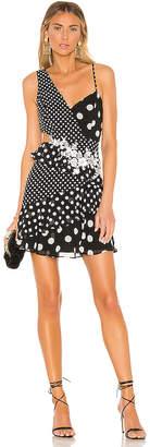 BCBGMAXAZRIA Polka Dot Cut Out Dress