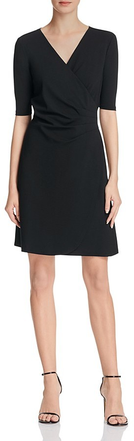 Adrianna Papell Mock Wrap Jersey Dress