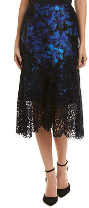 Monique Lhuillier Silk-Lined Skirt