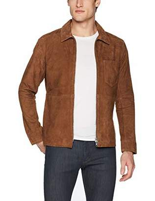 J. Lindeberg Men's Suede Zip Overshirt